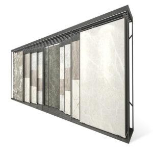 Ceramic Tile Display Frame,Push-pull Granite Tile Sample Display Stand Stainless Steel Frame