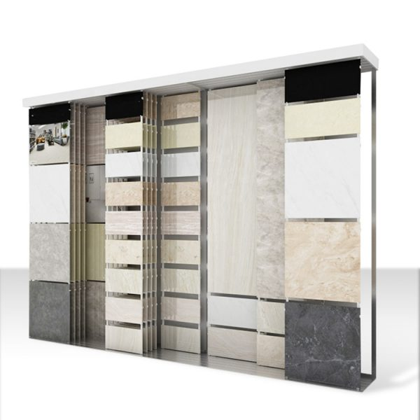 Large Ceramic Tile Sliding Display Cabinet Rack For Sale Australia