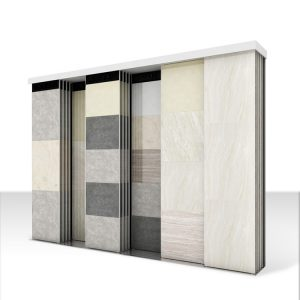 Exhibition Hall Display Stand Sliding Display Stand For Ceramic Tile Marble Quartz Stone Display