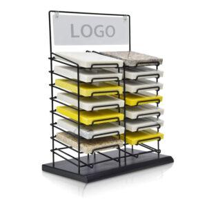 Countertop Quartz Display Rack,Marble Tile Metal Display Rack