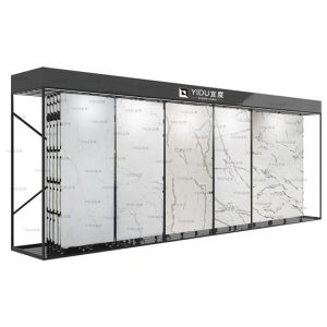 High Quality Exhibition Push-Pull Marble Stone Sliding Tile Showroom Display