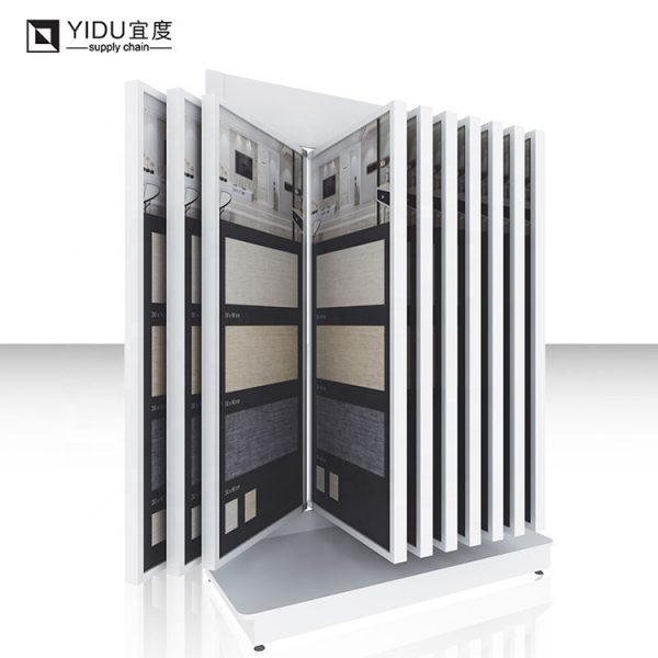 High Quality Metal Stone Tile Sample Book Wing Type Display Stand
