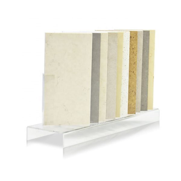 Tabletop Acrylic Display Stands For Marble Quartz Stone Ceramic Tile Display