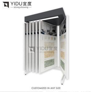 Custom Size Flip Wing Type Tile Wood Floor Granite Display Rack