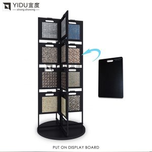 Rotating Mosaic Tile Floor Display Stand Made In China