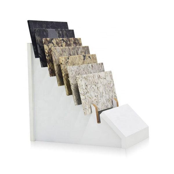 Stone Table Top Display Stand,High Quality White Quartz Stone Marble Countertop Display Rack