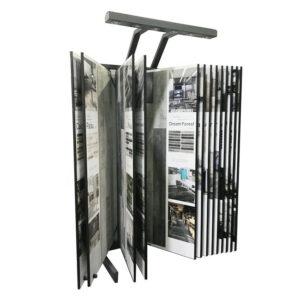 Tile Flooring Display Racks Flip Type Black Metal Shelf
