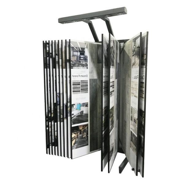 Modern Granite Quartz Stone Page Turning Custom Tile Display Rack