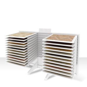 Tiles Display Rack For Sale Diagonal White Metal Quartz Stone Display Stand