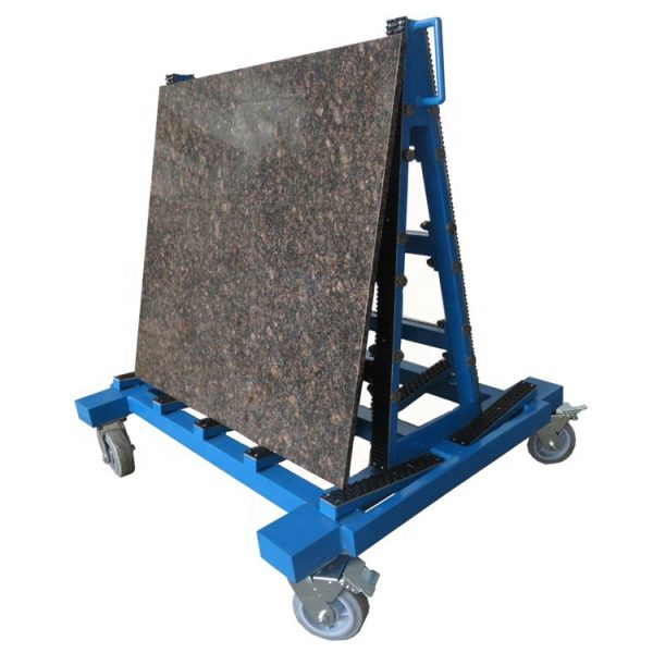 Double Side Granite Steel A-frame Rack For Display And Storage Slabs