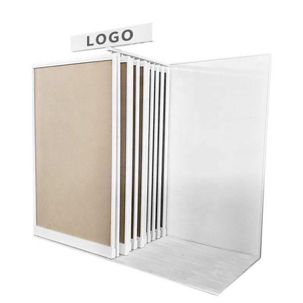 Customized Showroom Tile Rock Slab Sliding Display Rack
