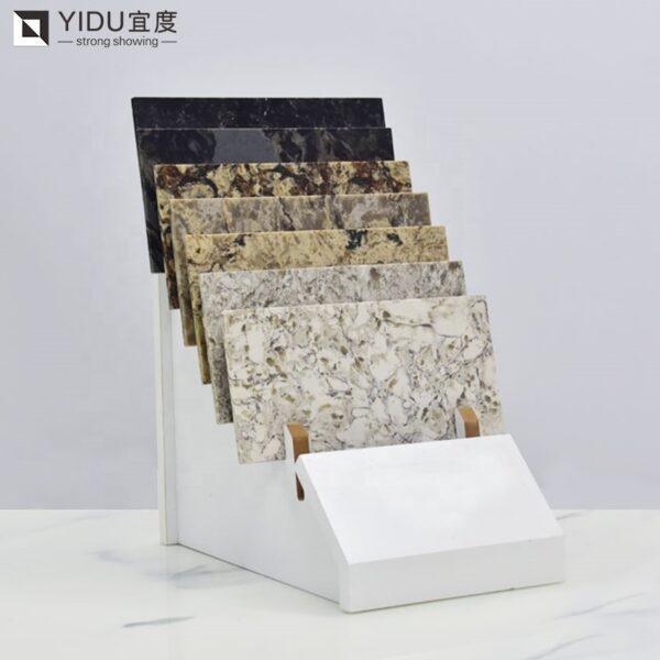 Quartz Stone Wood Floor Countertop Display Rack Supplier