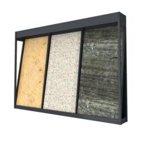 Granite Slab Sliding Display Rack For Showroom Stone Display