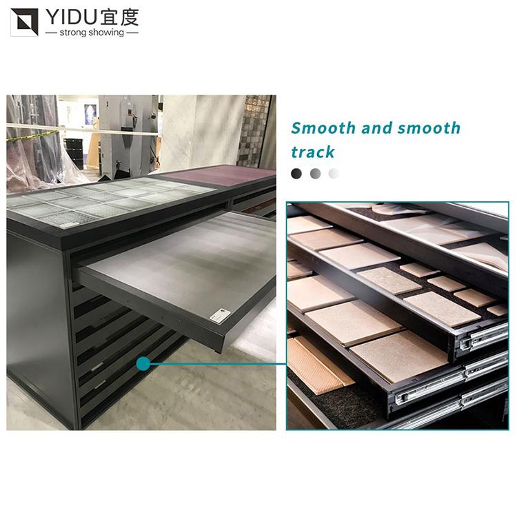 Stone Sample Board Tile Wood Floor Drawer Display Rack