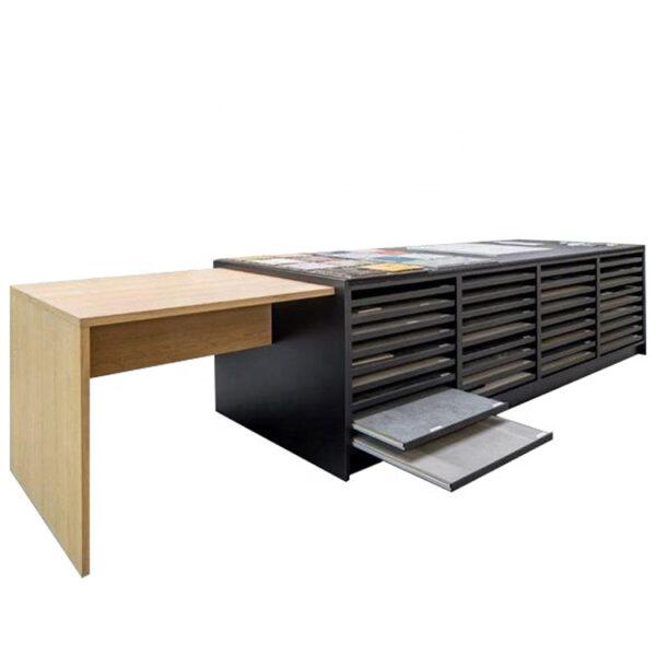 Ceramic Tile Cabinet Display Rack Drawer Display Rack For Stone Sample Display