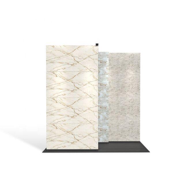 Custom Sliding Tile Display Rack Granite Showroom Display Rack