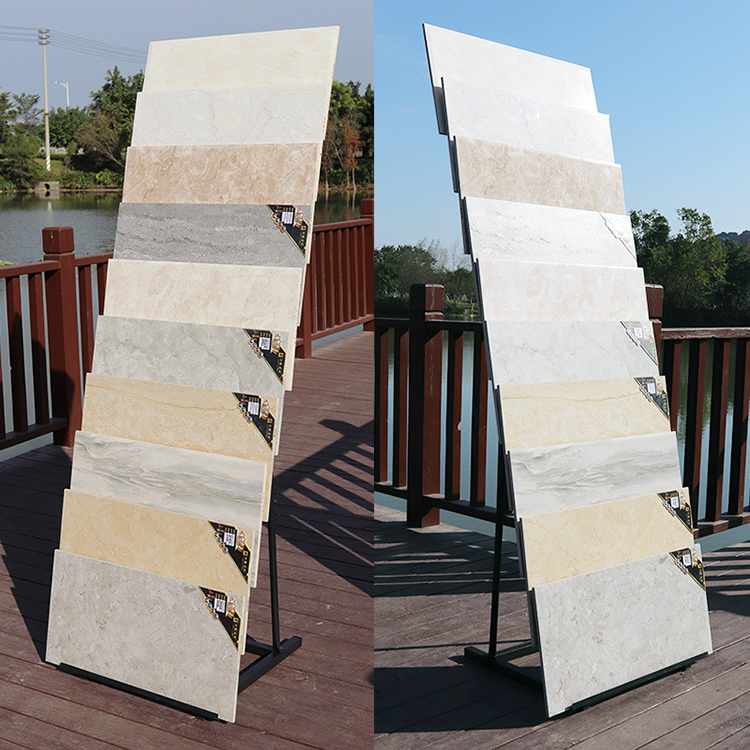 Quartz Slate Tile Display Rack, Stone Exhibition Model Rack