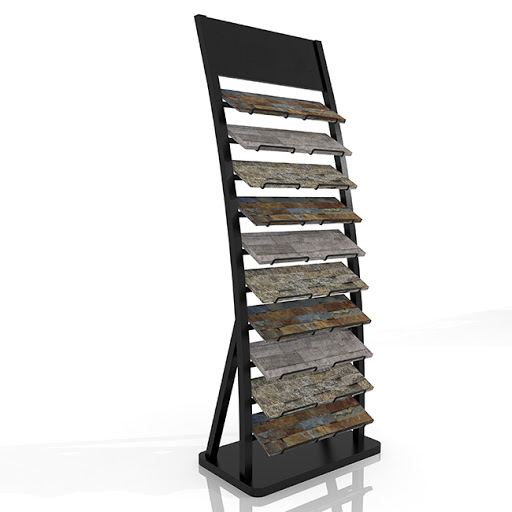Customized Cultural Stone Floor Metal Display Rack