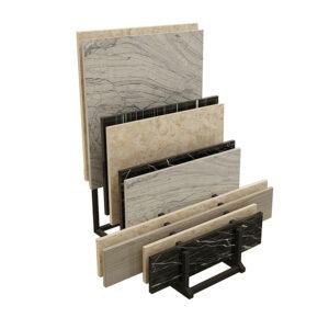 Shop Small Shelf Ceramic Tile Wood Floor Sample Display Rack With Slotted Tube