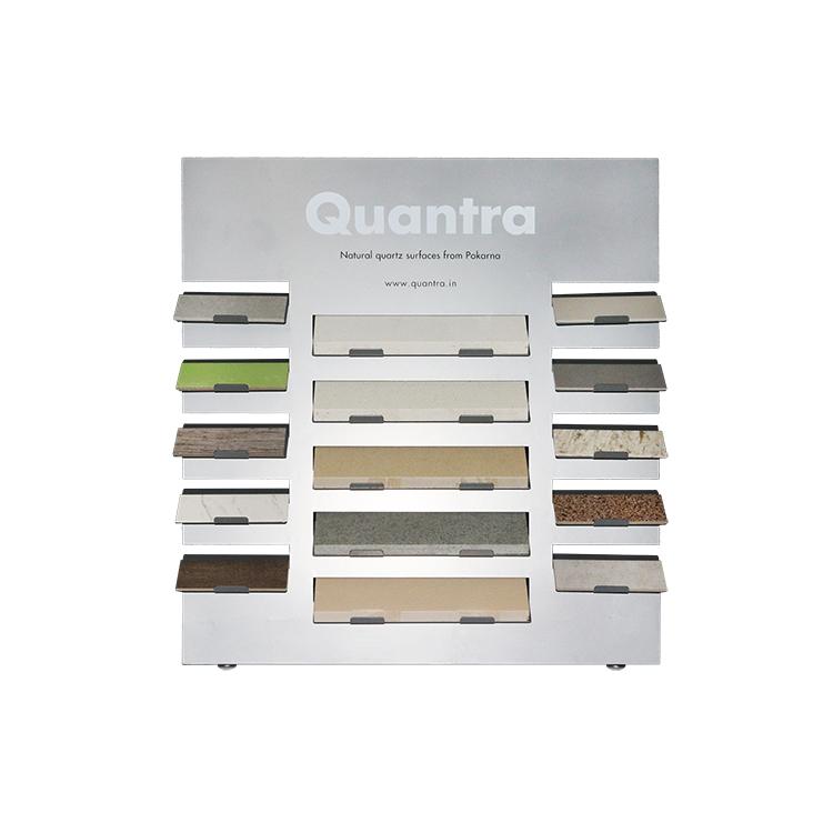 Custom Quartz Stone Marble Countertop Display Rack