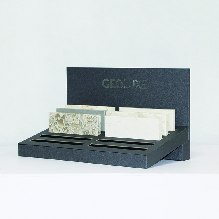 Custom Quartz Stone Display Stand, Marble Table Top Stand With Slot