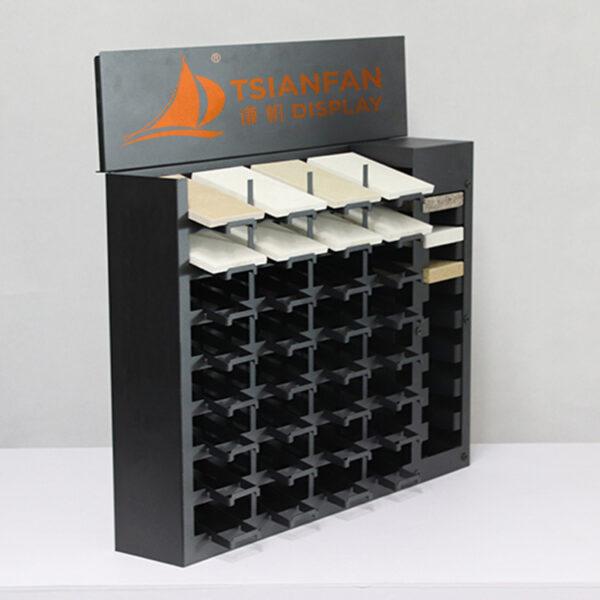 Quartz Stone Sample Display Rack,Desktop Granite Sample Tower Display