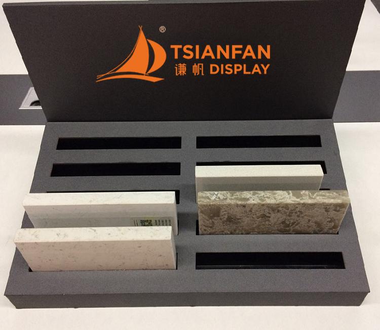 quartz stone sample display rack