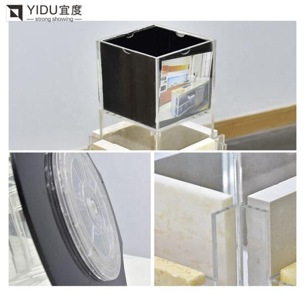 Acrylic Quartz Stone Tile Granite Countertop Display Stand