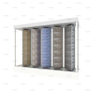 Showroom Mosaic Tile Sample Rotating Display Rack