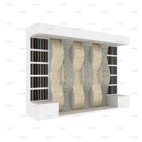 Wave-shaped Mosaic Tile Sample Display Rack For Showroom Display