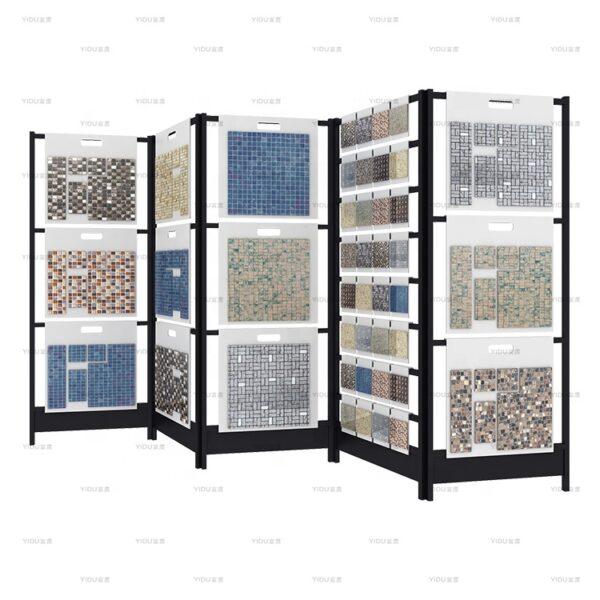 Showroom Screen Mosaic Panel Display Rack