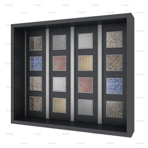 Custom Mosaic Tile Display Cabinet For Showroom Display Rack