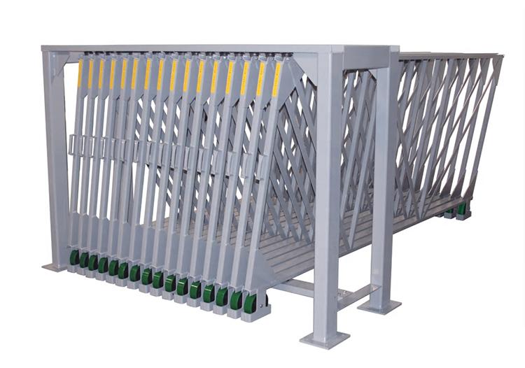 Vertical Glide Out Slab Storage Rack For Quartz Stone Tile Display