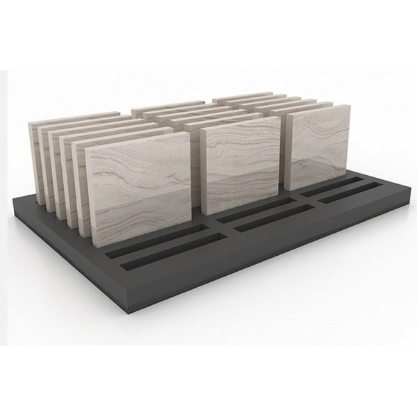 Showroom Tile Display Rack Wooden Floor Marble Countertop Display Rack
