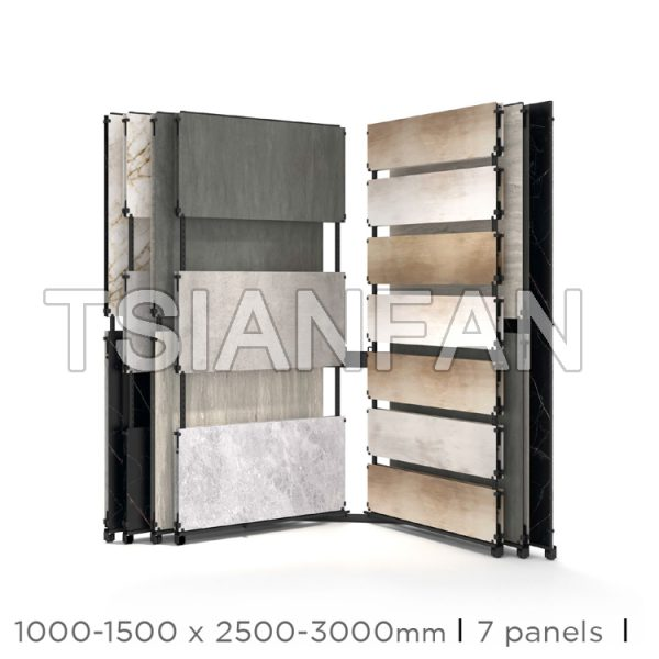 Page-turning Ceramic Tile Slab Display Rack Manufacturer