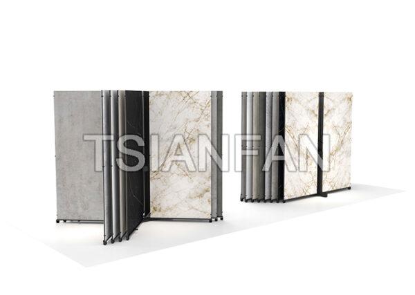 Sintered Stone Display Rack Tile Large Slab Push-pull Shelf