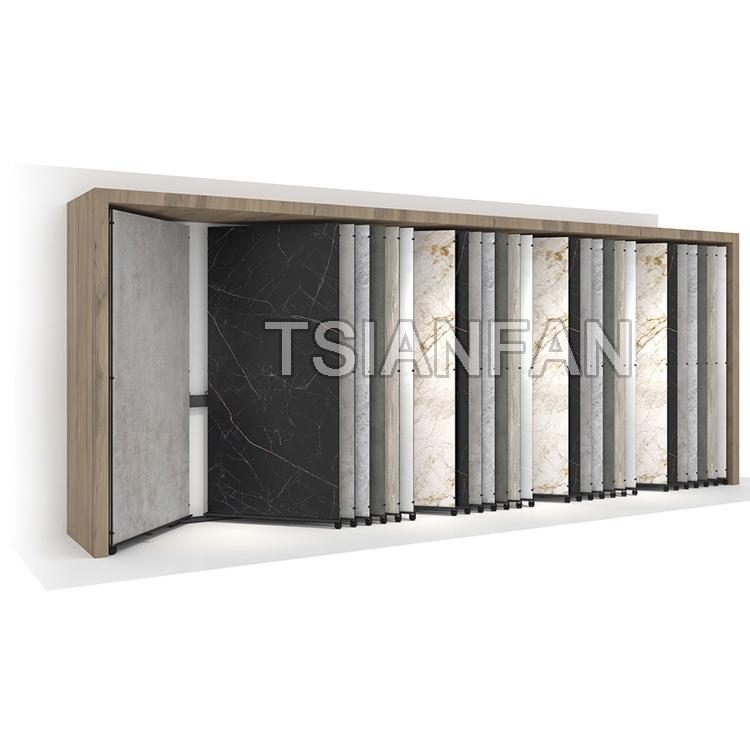 Showroom Sintered Stone Slab Tile Sliding Display Rack