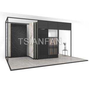 Showroom Ceramic Tile Slab Sliding Display Rack Granite Slab Display Rack