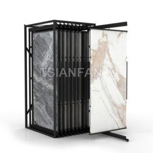 Large Slab Ceramic Tile Sliding Display Rack
